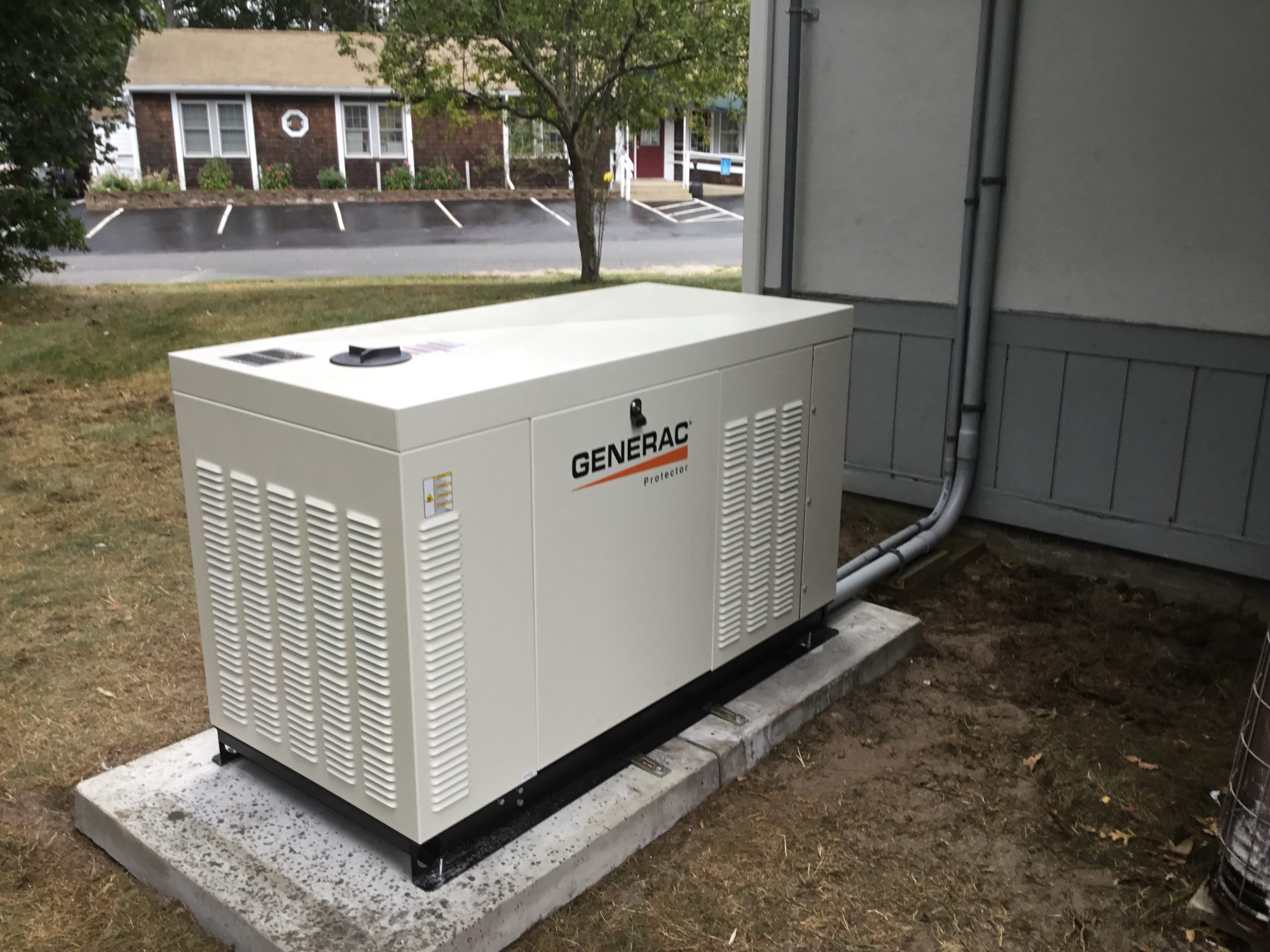 Generac Generator next to house
